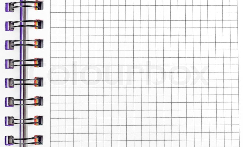 Cute Notepad Wallpaper Open Notebook With Pages In A Grid With Binding Stock