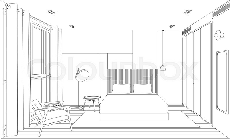 Perspective Drawing Of A Bedroom Wwwindiepediaorg