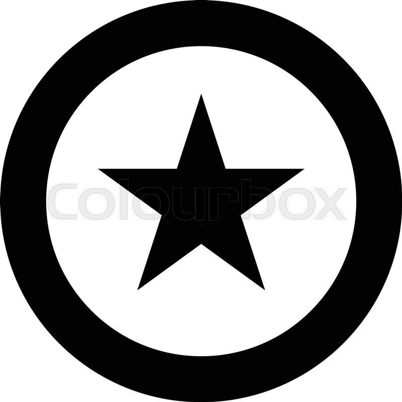 Star Circle Badge logo Stock Vector Colourbox
