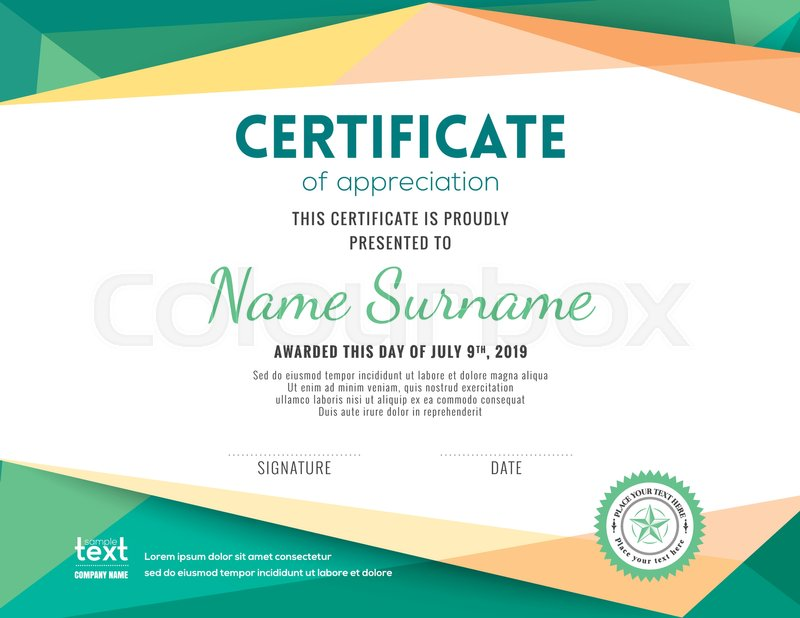 certificate of appreciation background design - Canasbergdorfbib