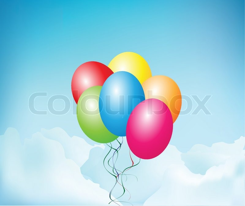 Balloons Floating in the air Stock Vector Colourbox