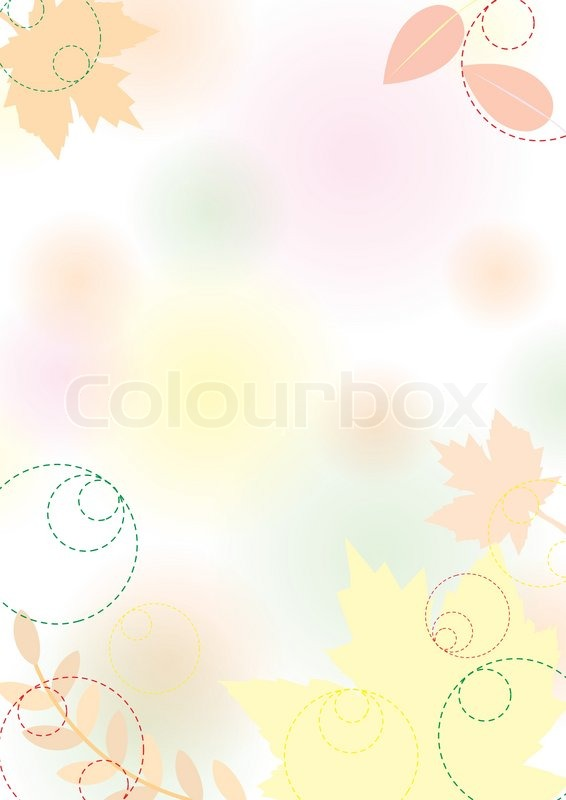 Autumn Leaves Falling Hd Wallpaper Autumn Background With Leaves Pastel Vector Illustration