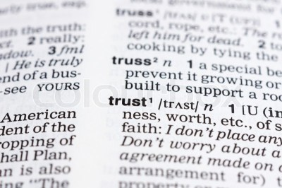 A trust definition in a dictionary | Stock Photo | Colourbox