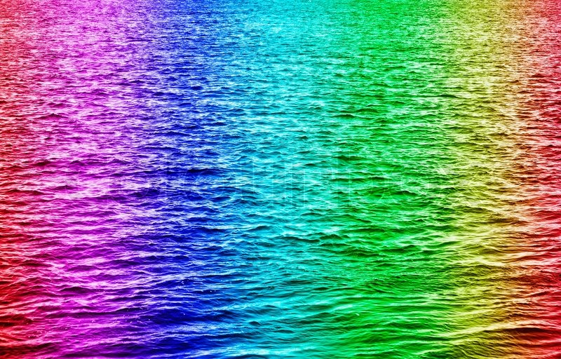 Iphone Wave Wallpaper Rainbow Colored Water Waves Stock Photo Colourbox