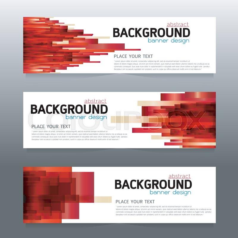 Vector background banner Collection Stock Vector Colourbox