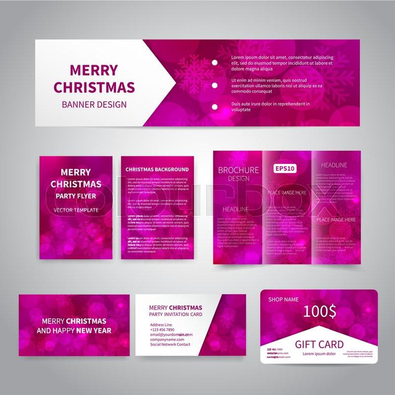 Merry Christmas Banner, flyers, Stock Vector Colourbox