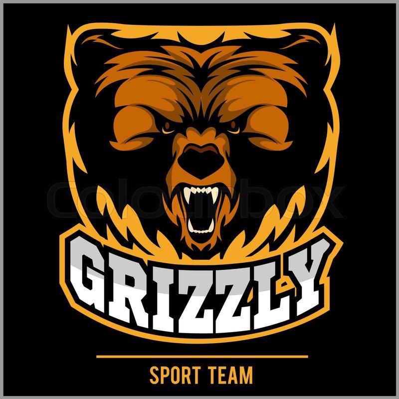 Grizzly mascot, team logo design Stock Vector Colourbox