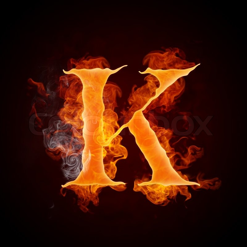Yin And Yang Wallpaper Hd Fire Letter K Isolated On Black Background Computer Design