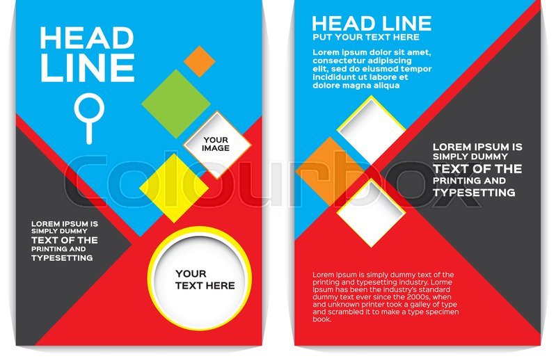 Flyer Blue brochure flyer design Stock Vector Colourbox