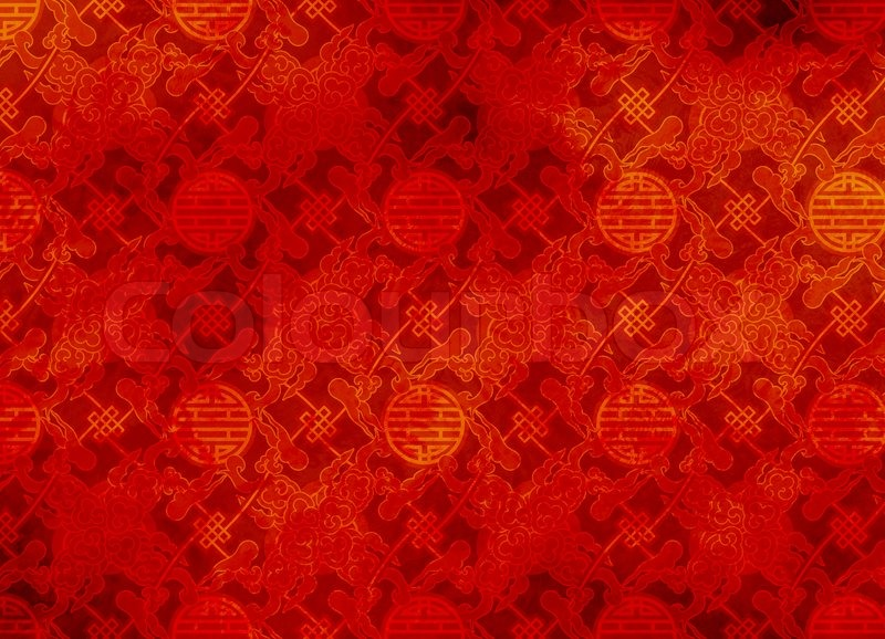 Chinese Dragon Wallpaper Hd Red Textured Pattern In Filigree For Background Or