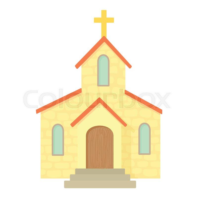 Church icon Cartoon illustration of Stock Vector Colourbox