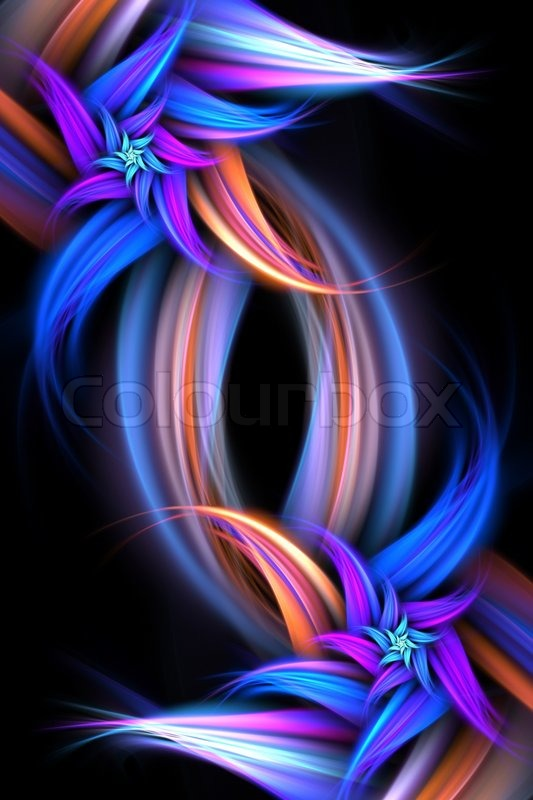 3d Flower Wallpaper For Pc An Abstract Fractal Flower Design Stock Photo