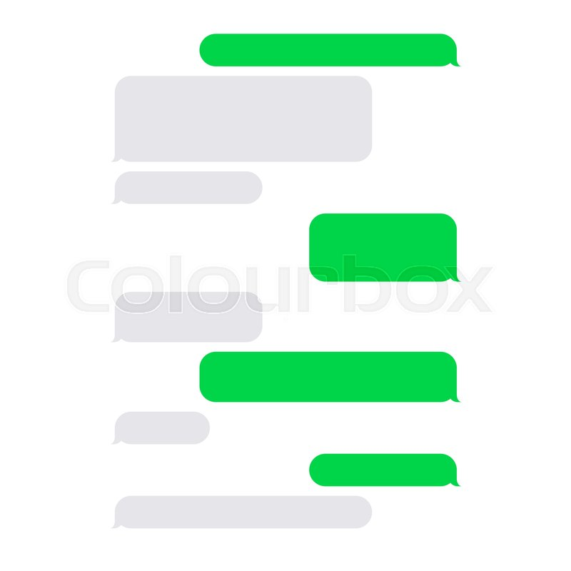 Short Message Service SMS Blank Stock Vector Colourbox