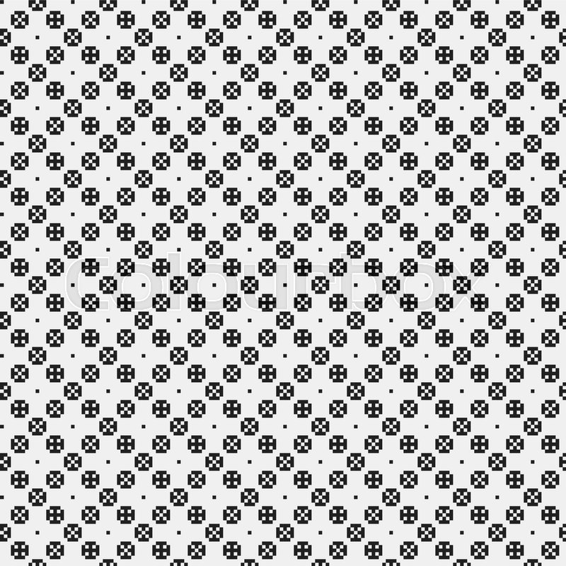 Strict pixelated seamless pattern in Stock Vector Colourbox