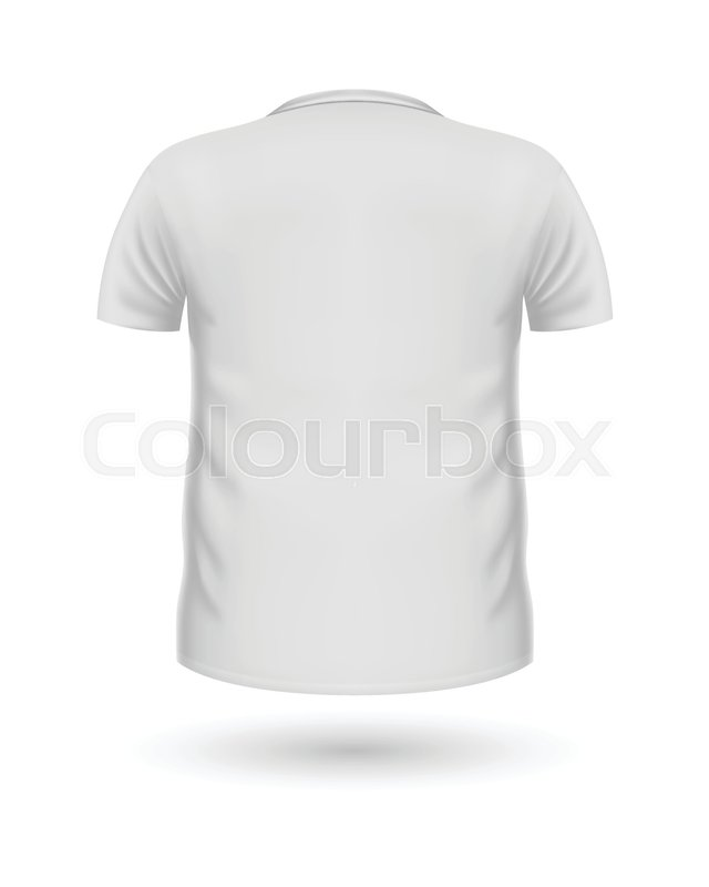 T-shirt template, back view White Stock Vector Colourbox