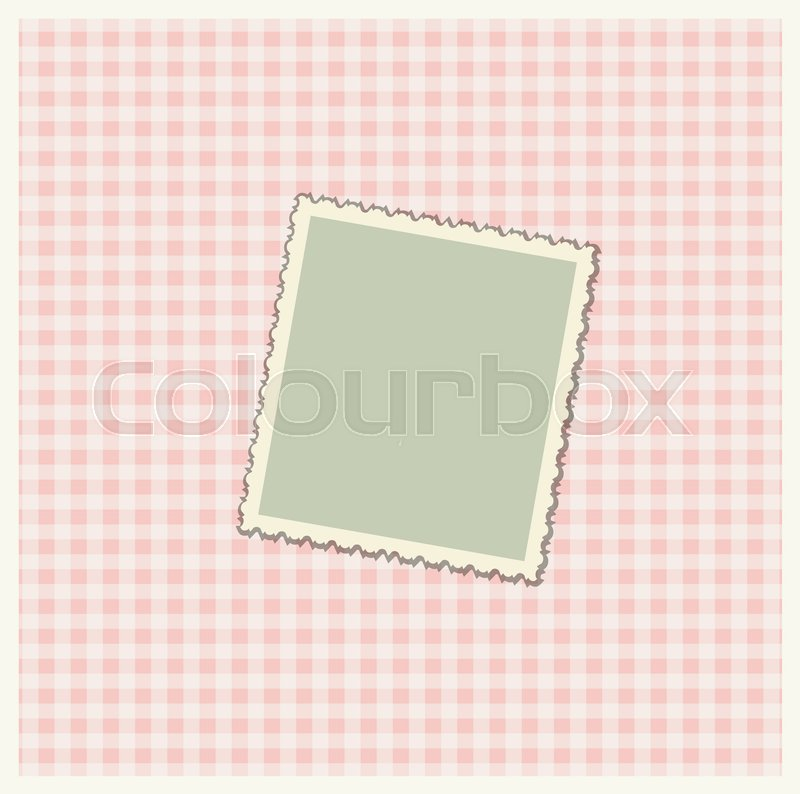 Romantic scrap booking template for invitation, greeting, baby