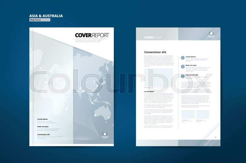 Catalog for Asia Catalog Design Stock Vector Colourbox