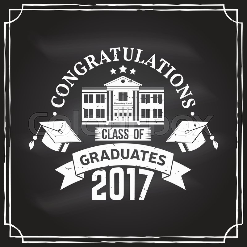 Vector Congratulations graduates Class Stock Vector Colourbox