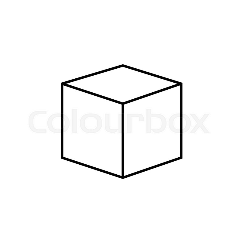 3d cube logo design icon, vector Stock Vector Colourbox