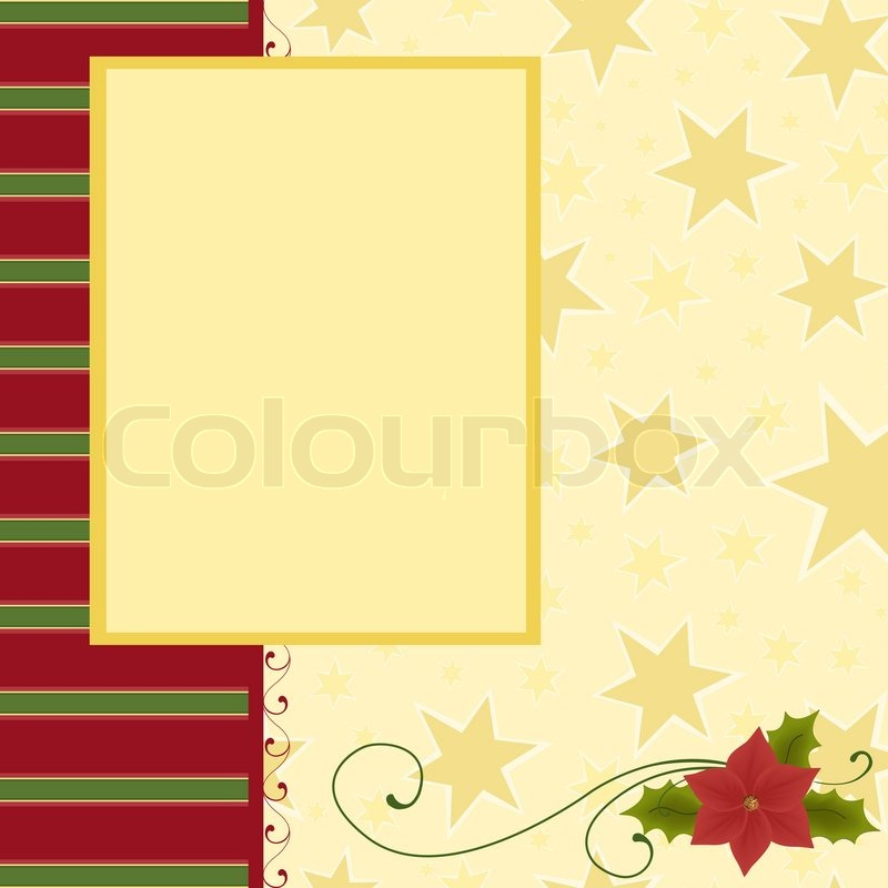Blank template for Christmas greetings card, postcard or photo - blank card template