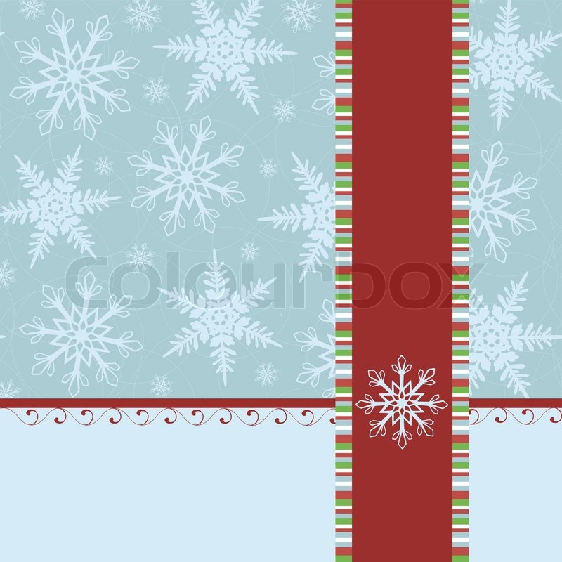 Blank template for Christmas greetings Stock Vector Colourbox
