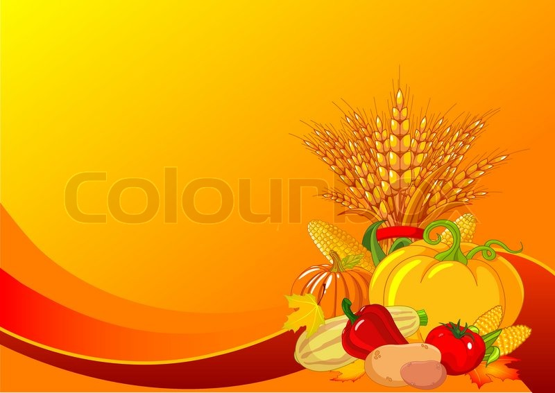 Fall Harvest Wallpaper Christian Thanksgiving Harvest Background Stock Vector Colourbox