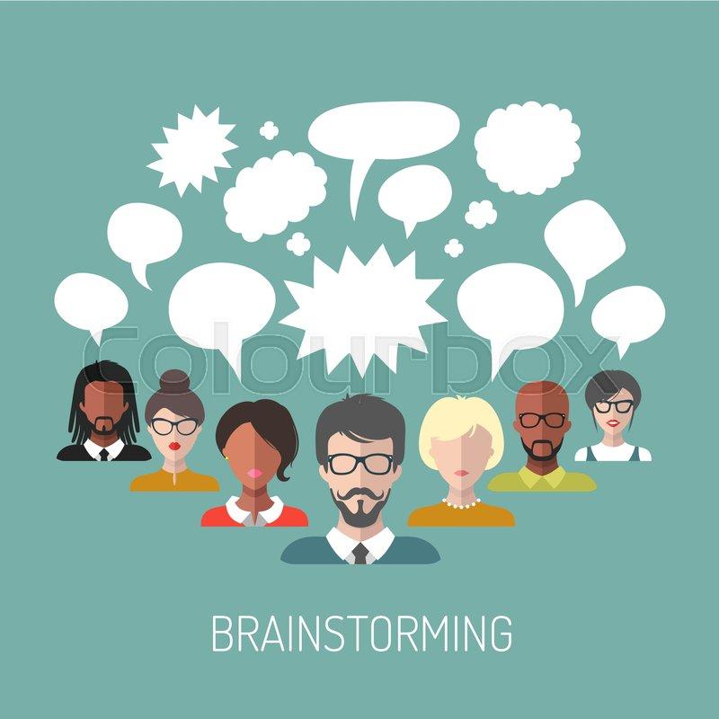 Vector illustration of brainstorming Stock Vector Colourbox