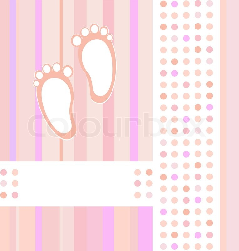 Baby girl announcement card background Stock Vector Colourbox