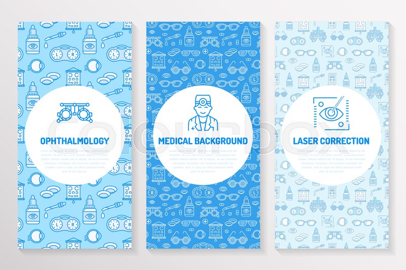 Ophthalmology, medical brochure template, flyer Eye health care - Medical Brochure Template