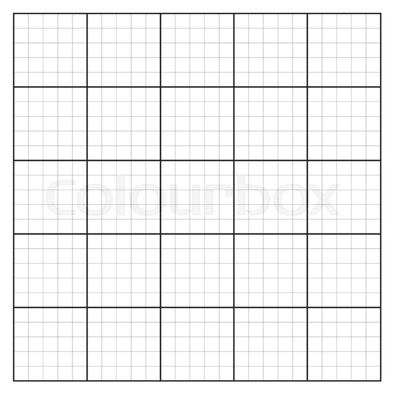 Graph paper coordinate paper grid paper squared paper Stock Vector - numbered graph paper template
