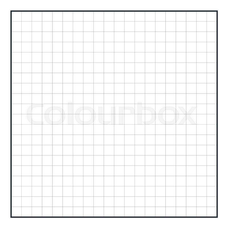 Graph paper coordinate paper grid paper squared paper Stock Vector