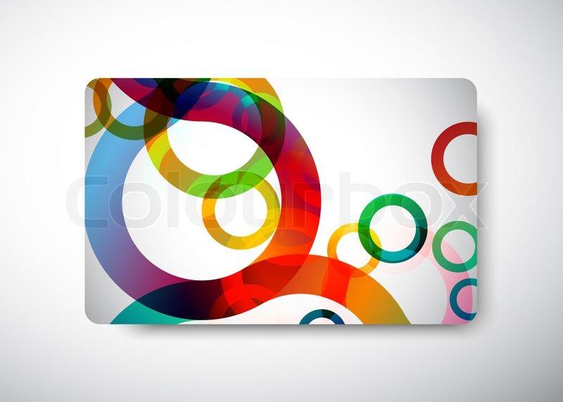 Rainbow Business Card Stock Photo Colourbox