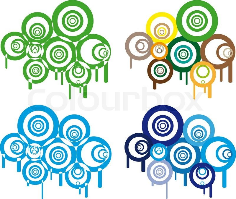 Graphic animation of retro circles in various color Stock Vector - animation circles