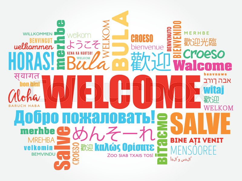 WELCOME word cloud in different Stock Vector Colourbox