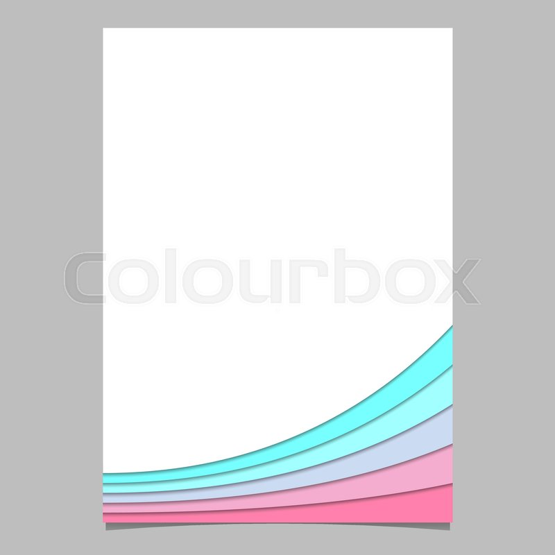 Blank brochure template from curved Stock Vector Colourbox