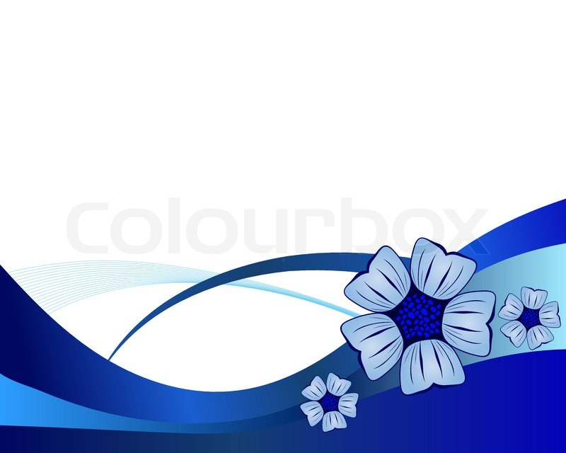 Blue flower vector background for use in web design Stock Vector - blue flower backgrounds