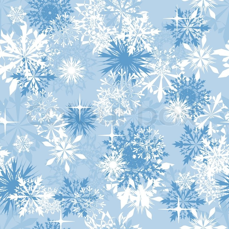 Seamless snowflakes background for winter and christmas theme - christmas theme background
