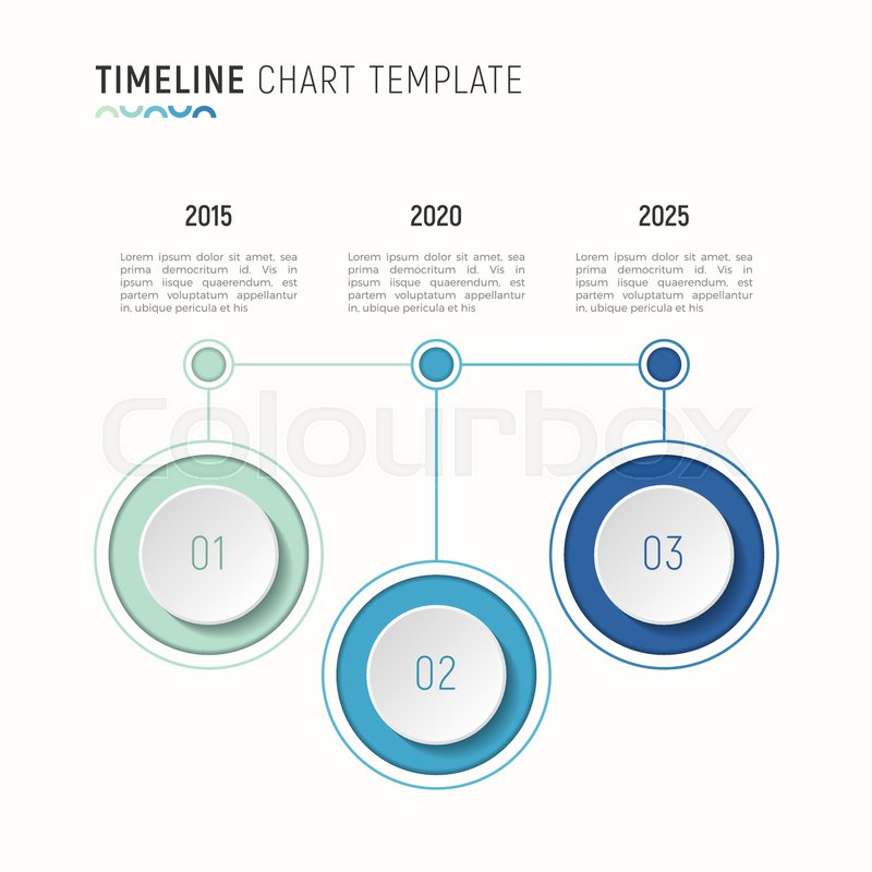 Timeline chart infographic template Stock Vector Colourbox