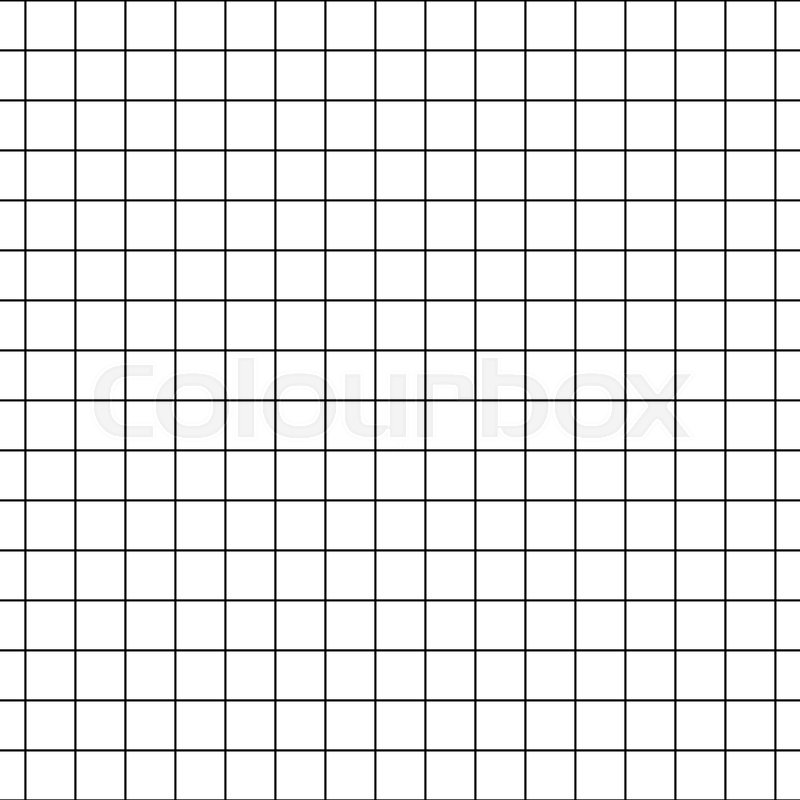 Checkered notebook paper vector seamless pattern Graph paper black