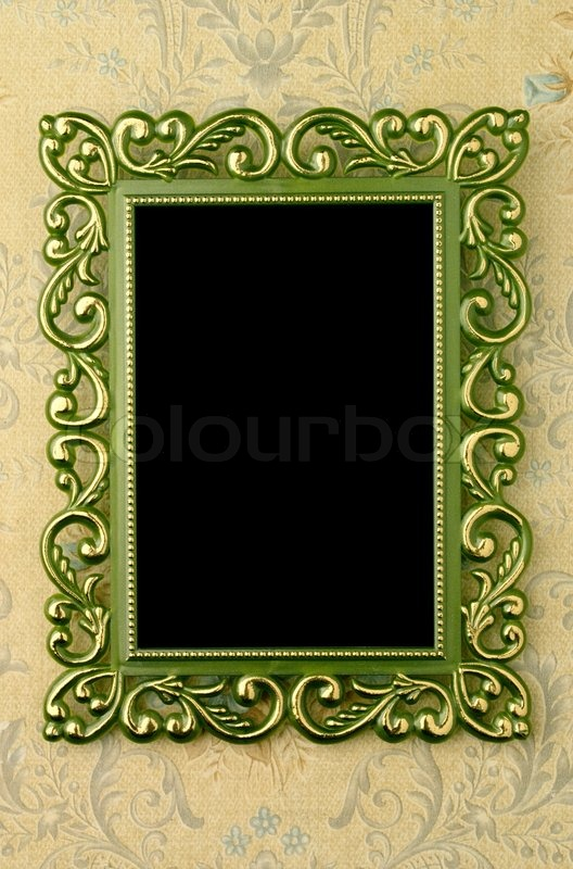 The old green frame Stock Photo Colourbox