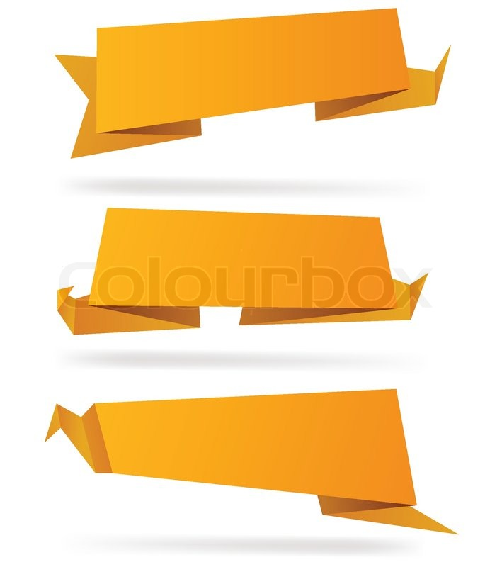 High-detailed paper origami label Vector eps8 Stock Vector - label