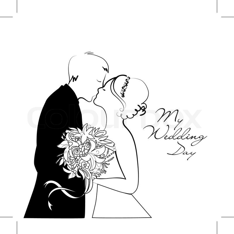 Black and White Wedding Background Stock Vector Colourbox - wedding photo black and white