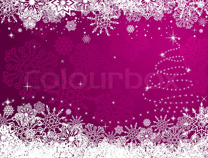 Winter Christmas or new year Stock Vector Colourbox