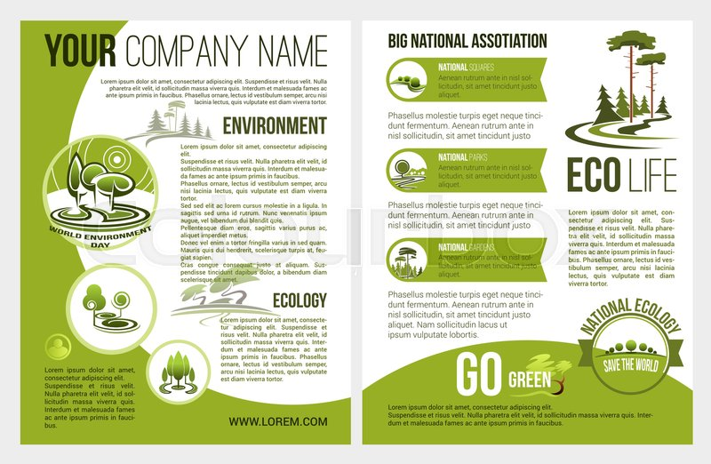 Ecology and green environment association or company brochure - Company Brochure Templates
