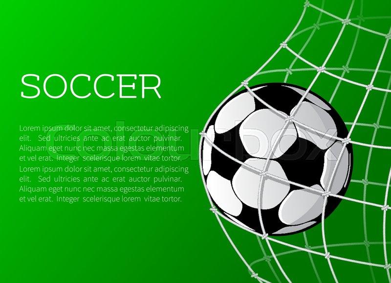 Soccer match or football sport Stock Vector Colourbox