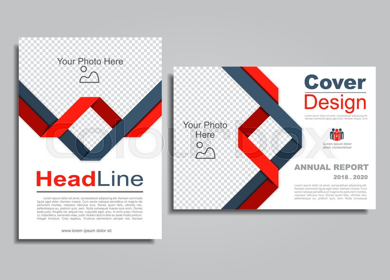Flyers report brochure cover book portfolio design template Vector