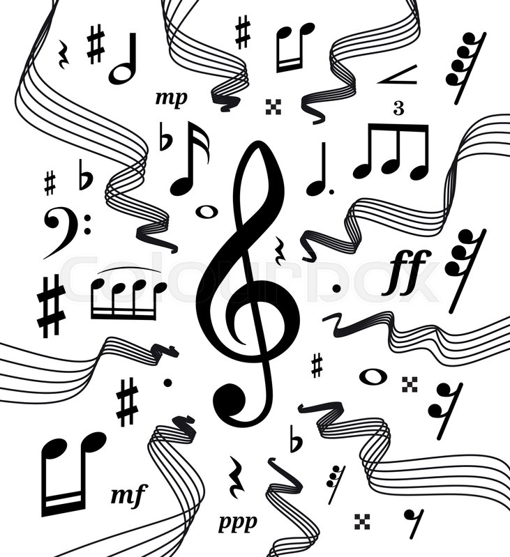 Musical staves vector illustration Stock Vector Colourbox