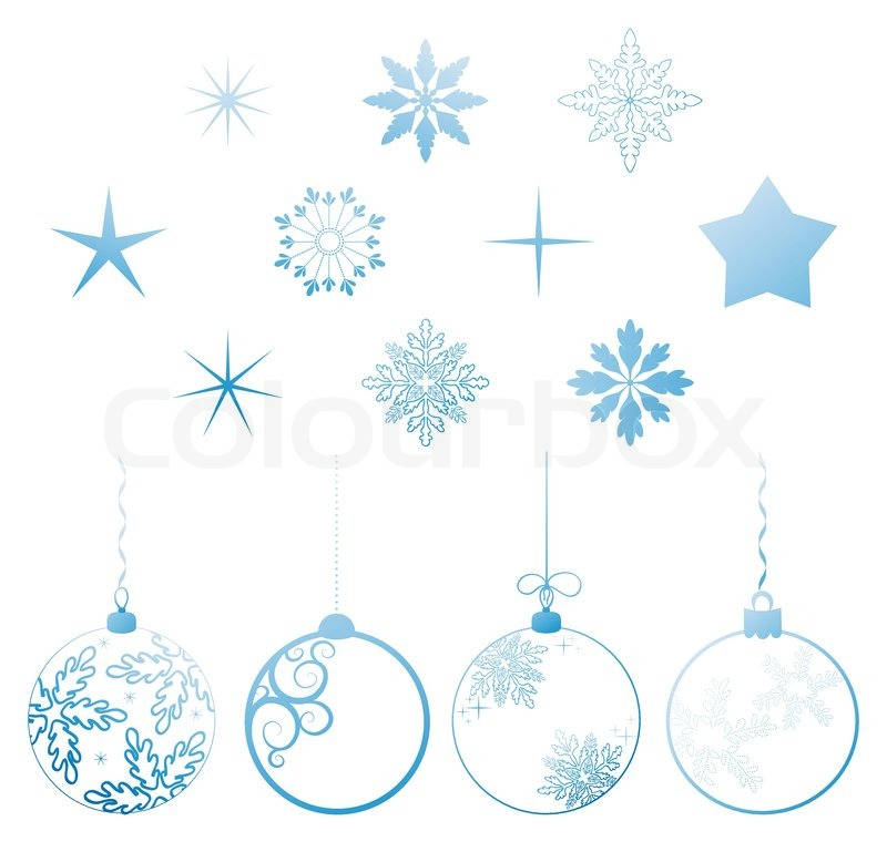 Vector collection Christmas holiday design elements Stock Vector