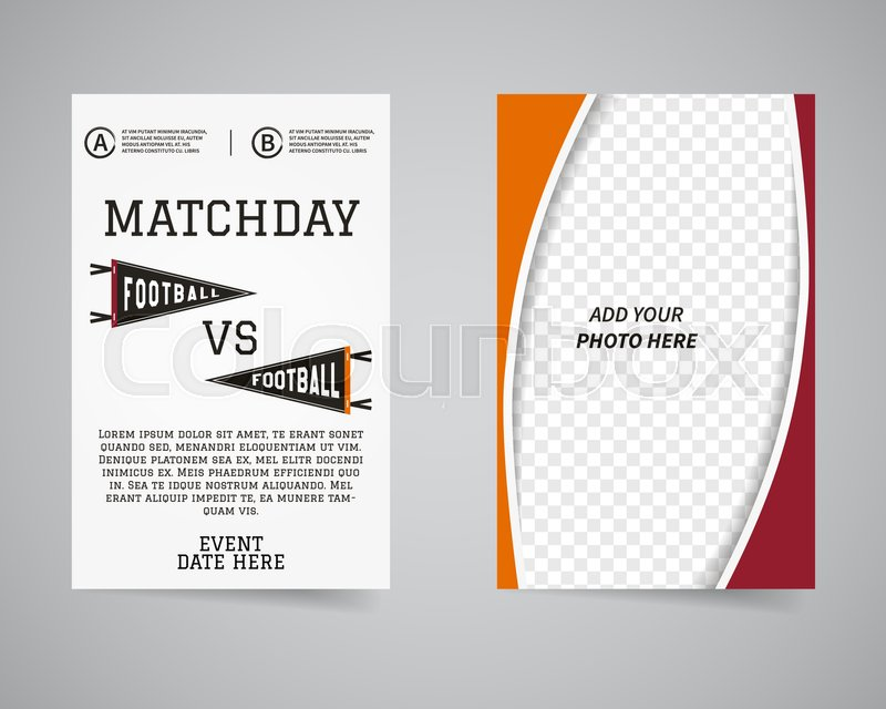 American football matchday back and Stock Vector Colourbox