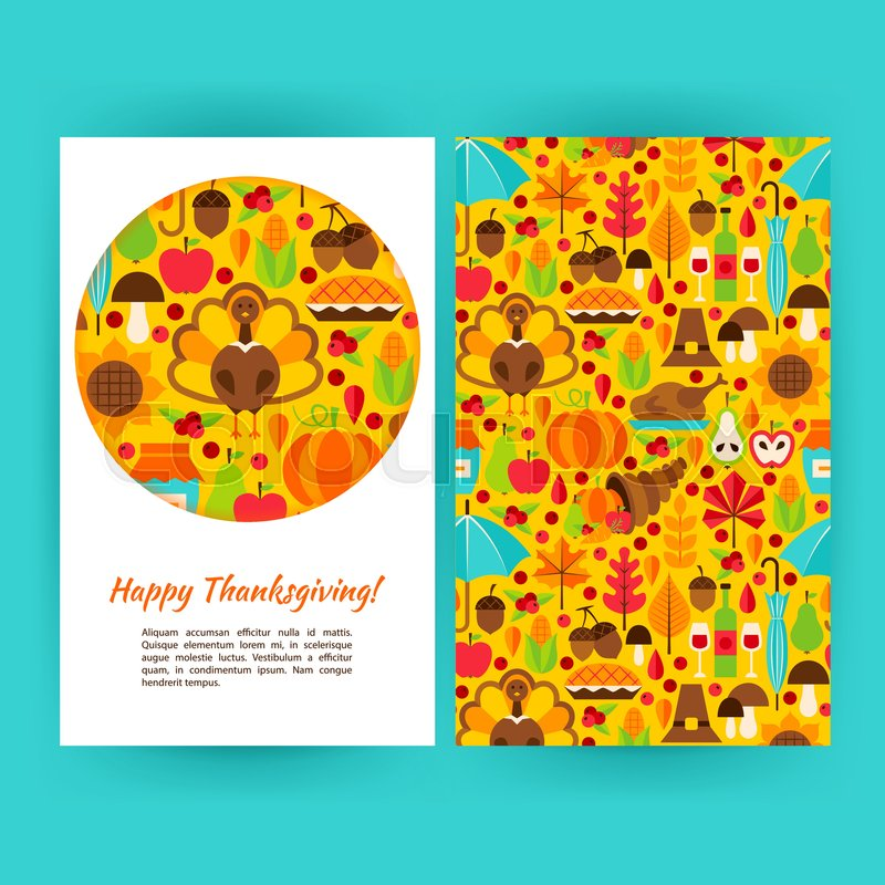 Happy Thanksgiving Flyer Template Stock Vector Colourbox